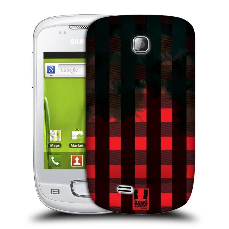 Plastové pouzdro na mobil Samsung Galaxy Mini HEAD CASE FLANEL RED BLACK (Kryt či obal na mobilní telefon Samsung Galaxy Mini GT-S5570 / GT-S5570i)