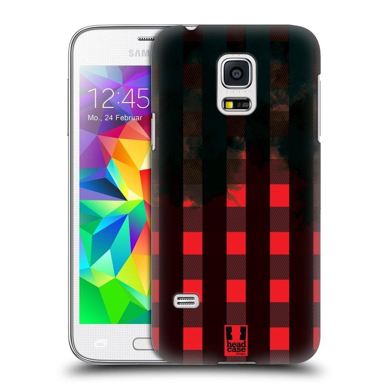 Plastové pouzdro na mobil Samsung Galaxy S5 Mini HEAD CASE FLANEL RED BLACK (Kryt či obal na mobilní telefon Samsung Galaxy S5 Mini SM-G800F)