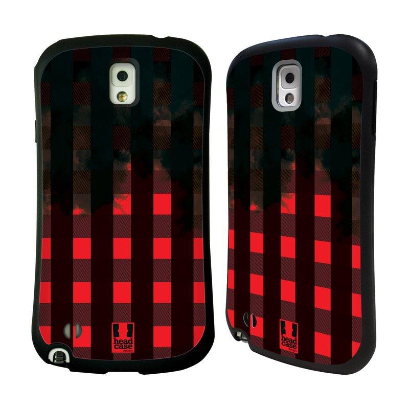 Nárazuvzdorné pouzdro na mobil Samsung Galaxy Note 3 HEAD CASE FLANEL RED BLACK (Odolný nárazuvzdorný silikonový kryt či obal na mobilní telefon Samsung Galaxy Note 3 SM-N9005)