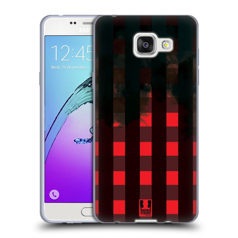 Silikonové pouzdro na mobil Samsung Galaxy A5 (2016) HEAD CASE FLANEL RED BLACK (Silikonový kryt či obal na mobilní telefon Samsung Galaxy A5 (2016) SM-A510F)