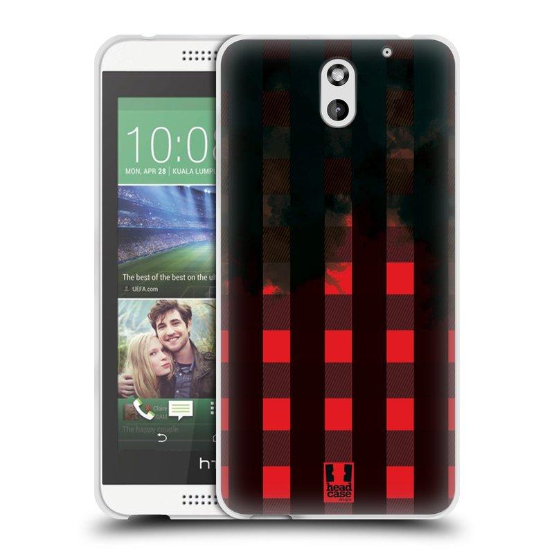 Silikonové pouzdro na mobil HTC Desire 610 HEAD CASE FLANEL RED BLACK (Silikonový kryt či obal na mobilní telefon HTC Desire 610)