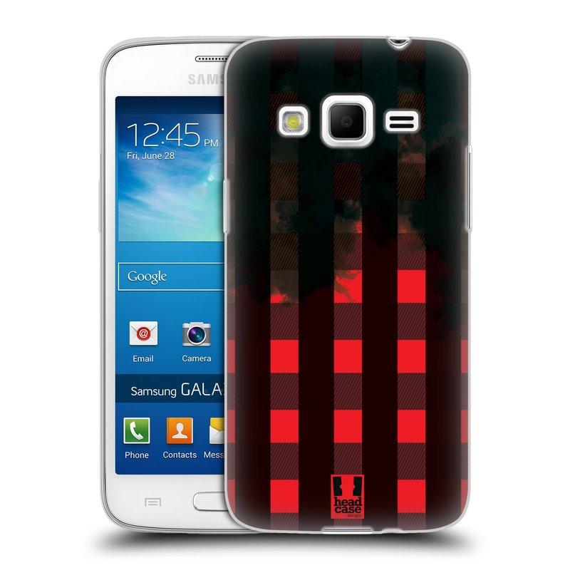 Silikonové pouzdro na mobil Samsung Galaxy Express 2 HEAD CASE FLANEL RED BLACK (Silikonový kryt či obal na mobilní telefon Samsung Galaxy Express 2 SM-G3815)