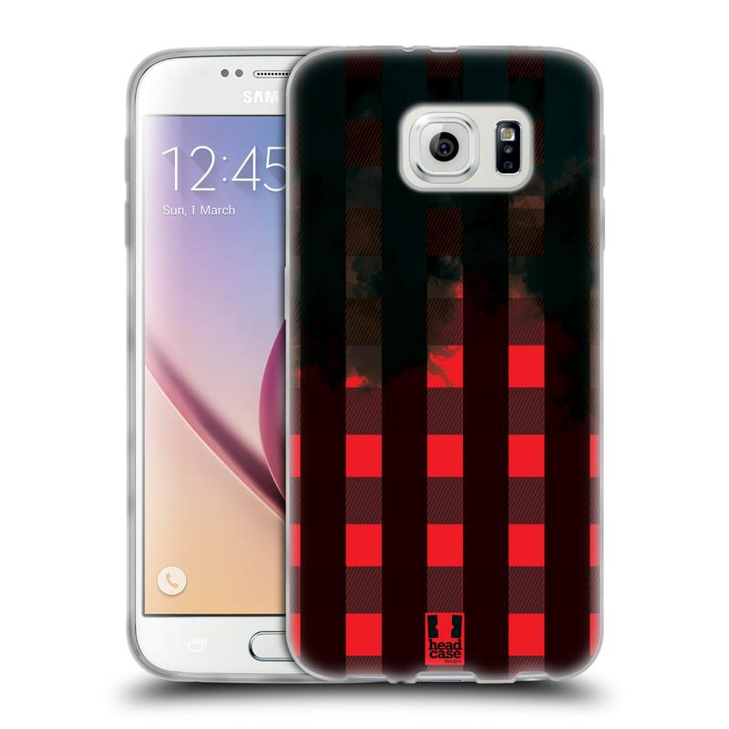 Silikonové pouzdro na mobil Samsung Galaxy S6 HEAD CASE FLANEL RED BLACK (Silikonový kryt či obal na mobilní telefon Samsung Galaxy S6 SM-G920F)