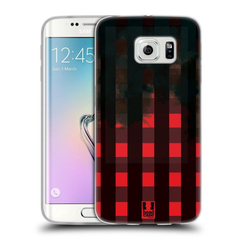 Silikonové pouzdro na mobil Samsung Galaxy S6 Edge HEAD CASE FLANEL RED BLACK (Silikonový kryt či obal na mobilní telefon Samsung Galaxy S6 Edge SM-G925F)