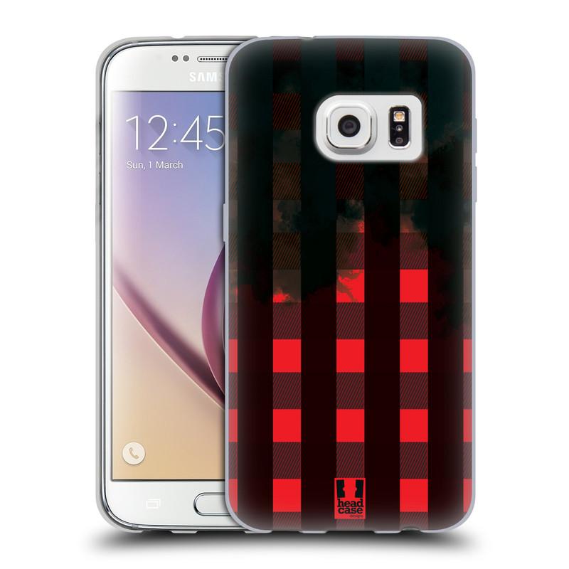 Silikonové pouzdro na mobil Samsung Galaxy S7 HEAD CASE FLANEL RED BLACK (Silikonový kryt či obal na mobilní telefon Samsung Galaxy S7 SM-G930F)