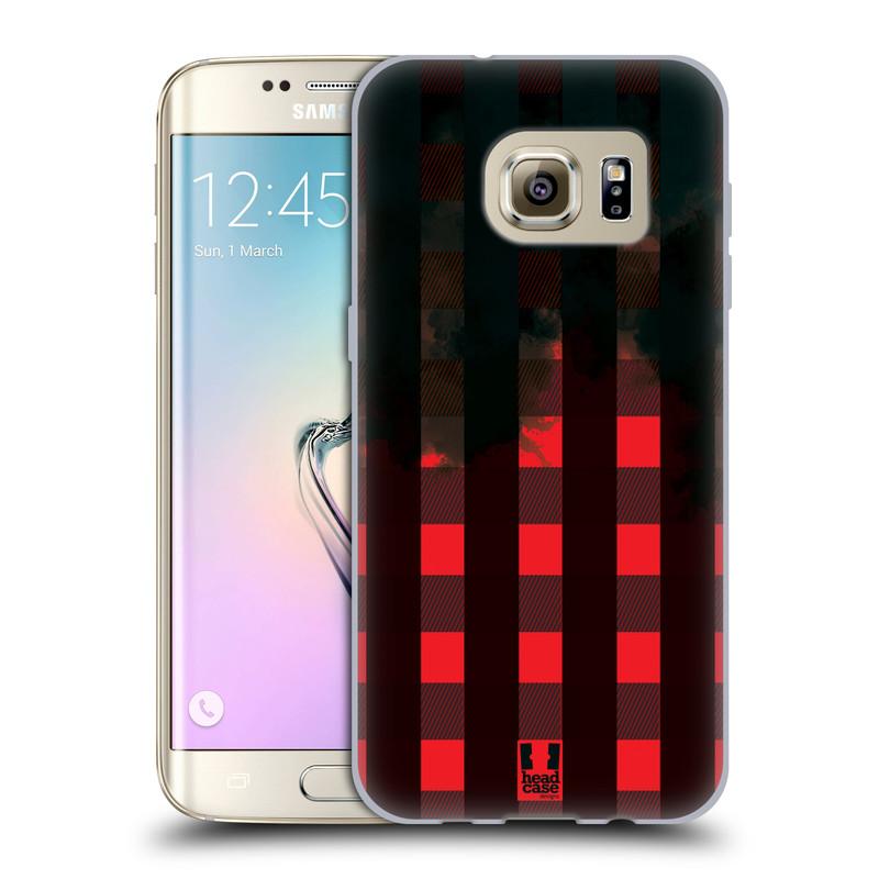 Silikonové pouzdro na mobil Samsung Galaxy S7 Edge HEAD CASE FLANEL RED BLACK (Silikonový kryt či obal na mobilní telefon Samsung Galaxy S7 Edge SM-G935F)