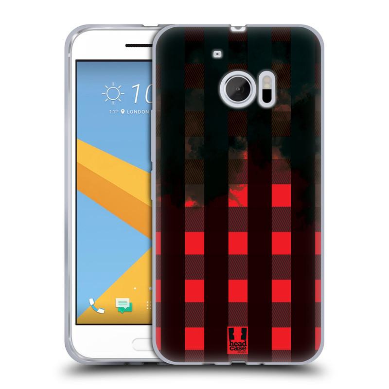 Silikonové pouzdro na mobil HTC 10 HEAD CASE FLANEL RED BLACK (Silikonový kryt či obal na mobilní telefon HTC 10 (HTC One M10))