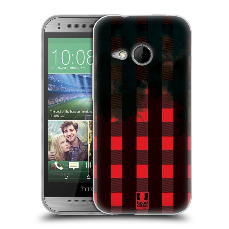 Silikonové pouzdro na mobil HTC ONE Mini 2 HEAD CASE FLANEL RED BLACK (Silikonový kryt či obal na mobilní telefon HTC ONE Mini 2)