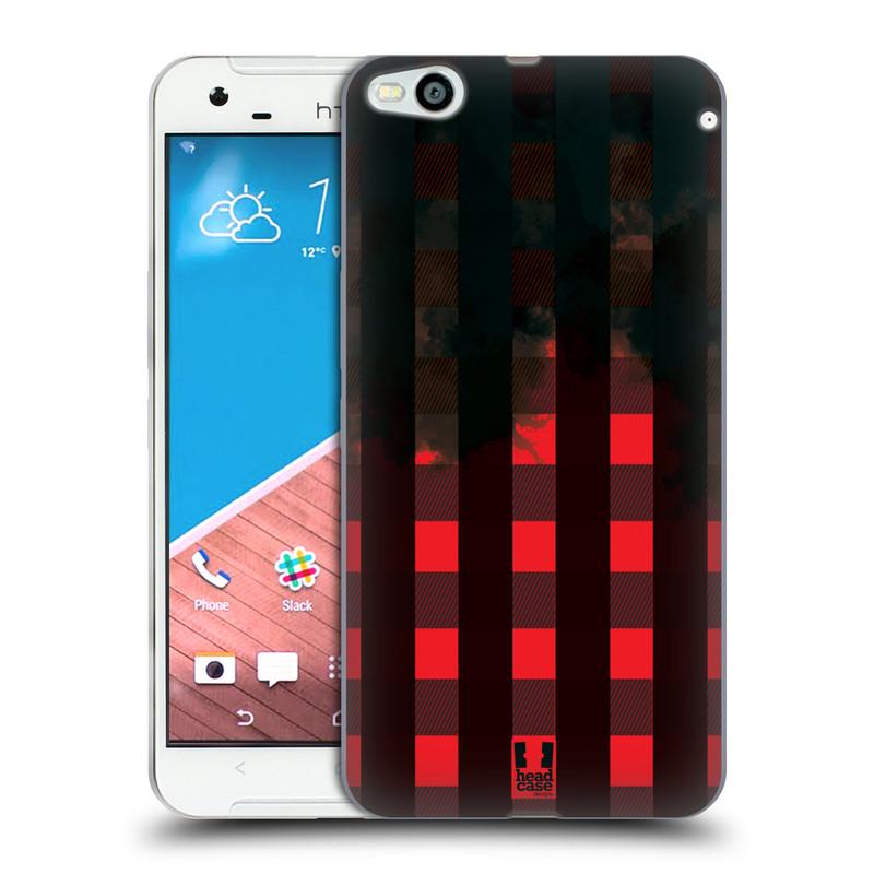 Silikonové pouzdro na mobil HTC One X9 HEAD CASE FLANEL RED BLACK (Silikonový kryt či obal na mobilní telefon HTC One X9)