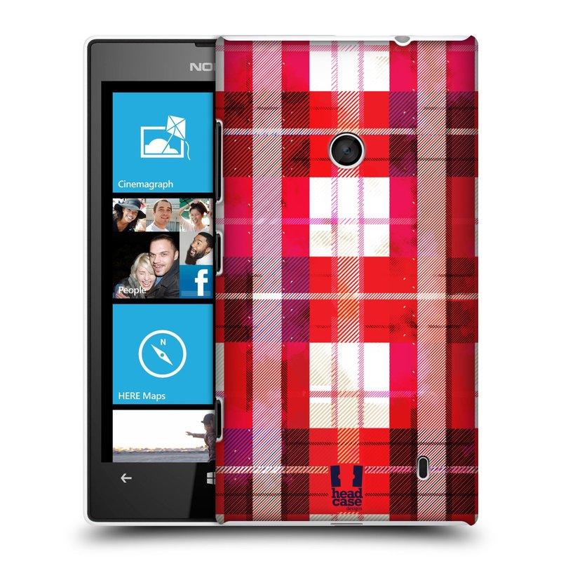 Plastové pouzdro na mobil Nokia Lumia 520 HEAD CASE FLANEL RED (Kryt či obal na mobilní telefon Nokia Lumia 520 )