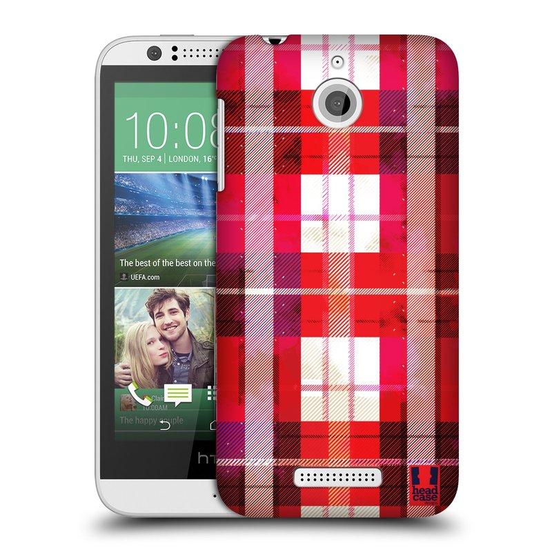 Plastové pouzdro na mobil HTC Desire 510 HEAD CASE FLANEL RED (Kryt či obal na mobilní telefon HTC Desire 510)