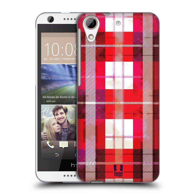 Plastové pouzdro na mobil HTC Desire 626 / 626G HEAD CASE FLANEL RED (Kryt či obal na mobilní telefon HTC Desire 626G Dual SIM a HTC Desire 626)