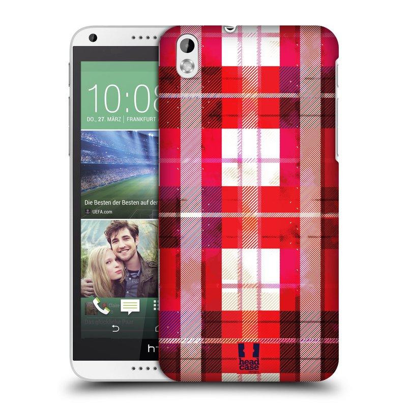 Plastové pouzdro na mobil HTC Desire 816 HEAD CASE FLANEL RED (Kryt či obal na mobilní telefon HTC Desire 816)