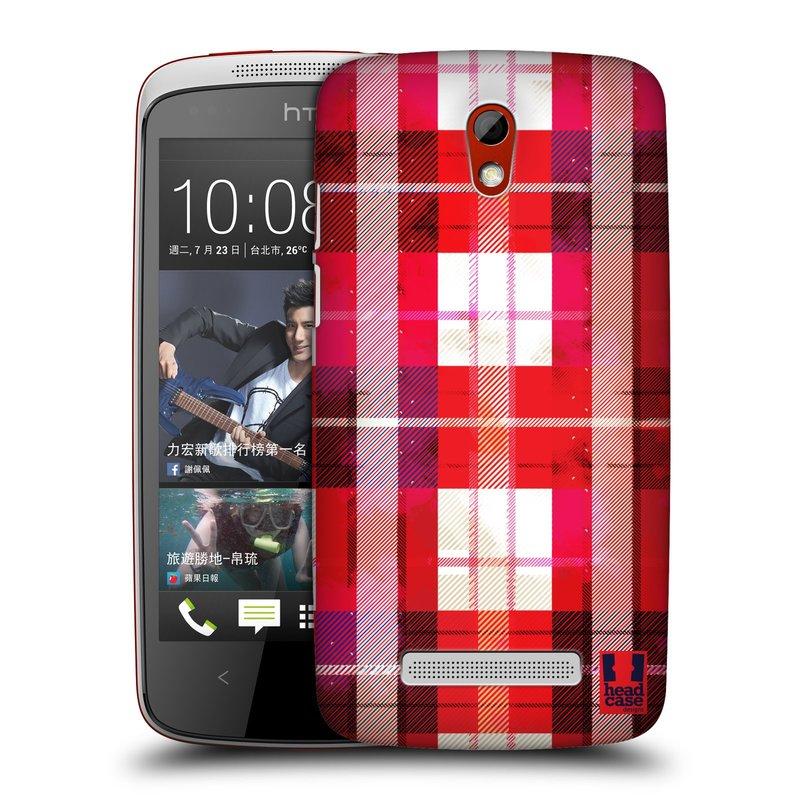 Plastové pouzdro na mobil HTC Desire 500 HEAD CASE FLANEL RED (Kryt či obal na mobilní telefon HTC Desire 500)