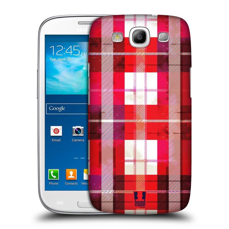 Plastové pouzdro na mobil Samsung Galaxy S III HEAD CASE FLANEL RED (Kryt či obal na mobilní telefon Samsung Galaxy S III GT-i9300)