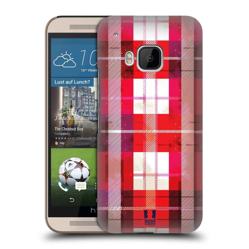 Plastové pouzdro na mobil HTC ONE M9 HEAD CASE FLANEL RED (Kryt či obal na mobilní telefon HTC ONE M9)