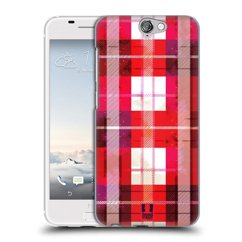 Plastové pouzdro na mobil HTC One A9 HEAD CASE FLANEL RED (Kryt či obal na mobilní telefon HTC One A9)