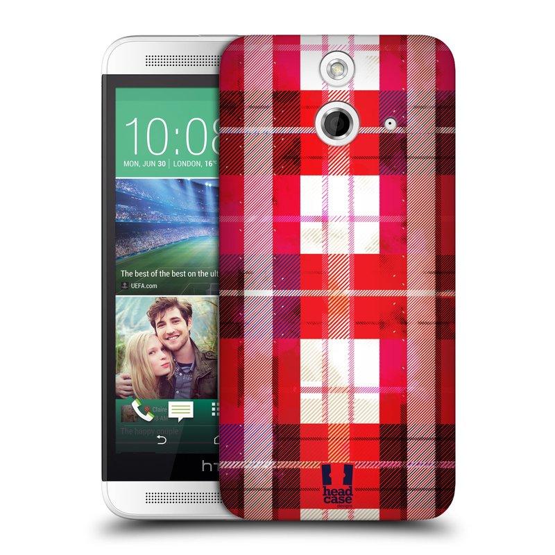 Plastové pouzdro na mobil HTC ONE E8 HEAD CASE FLANEL RED (Kryt či obal na mobilní telefon HTC ONE E8)