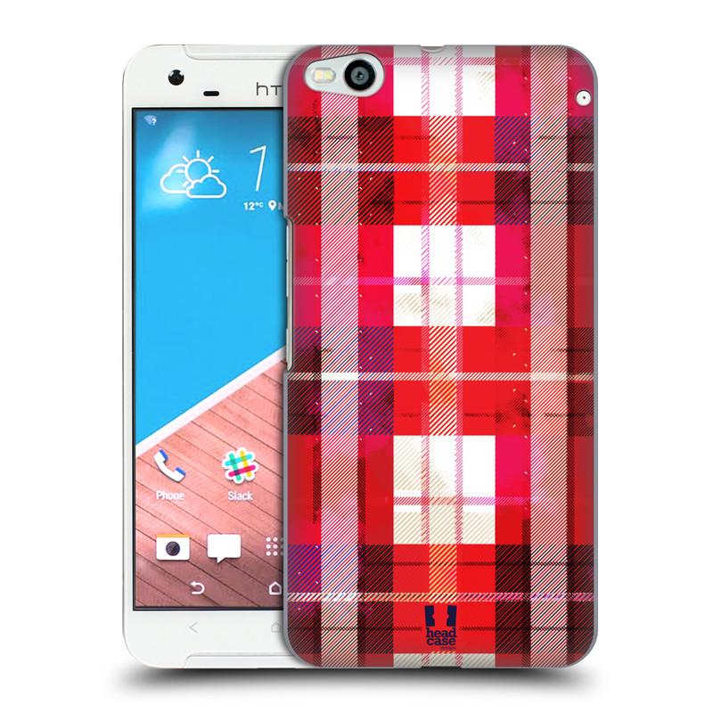 Plastové pouzdro na mobil HTC One X9 HEAD CASE FLANEL RED (Kryt či obal na mobilní telefon HTC One X9)