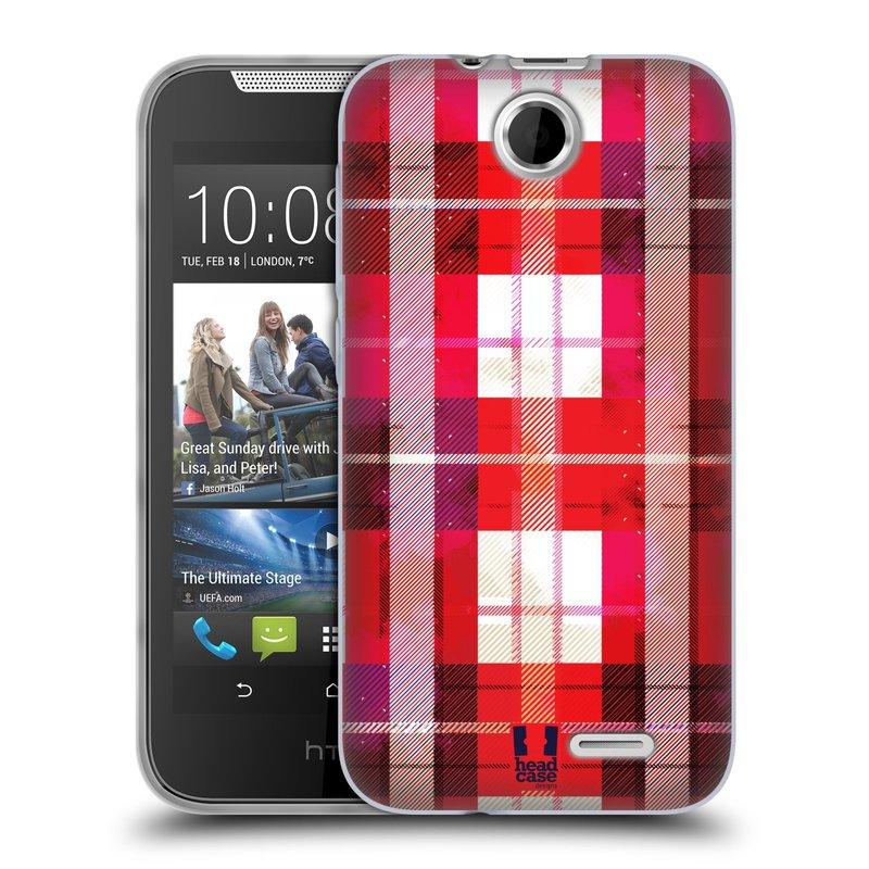 Silikonové pouzdro na mobil HTC Desire 310 HEAD CASE FLANEL RED (Silikonový kryt či obal na mobilní telefon HTC Desire 310)