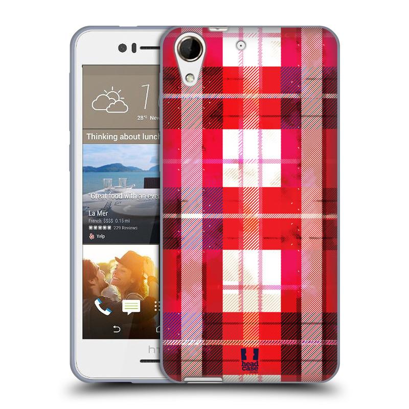 Silikonové pouzdro na mobil HTC Desire 728G Dual SIM HEAD CASE FLANEL RED (Silikonový kryt či obal na mobilní telefon HTC Desire 728 G Dual SIM)