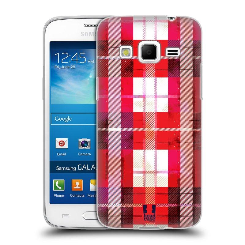 Silikonové pouzdro na mobil Samsung Galaxy Express 2 HEAD CASE FLANEL RED (Silikonový kryt či obal na mobilní telefon Samsung Galaxy Express 2 SM-G3815)