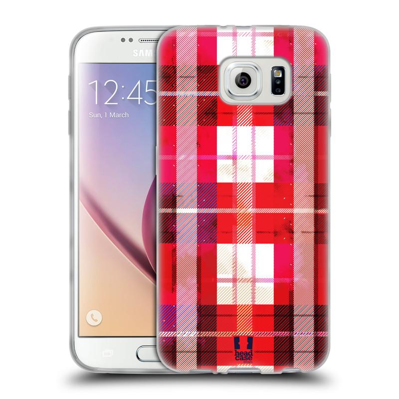 Silikonové pouzdro na mobil Samsung Galaxy S6 HEAD CASE FLANEL RED (Silikonový kryt či obal na mobilní telefon Samsung Galaxy S6 SM-G920F)