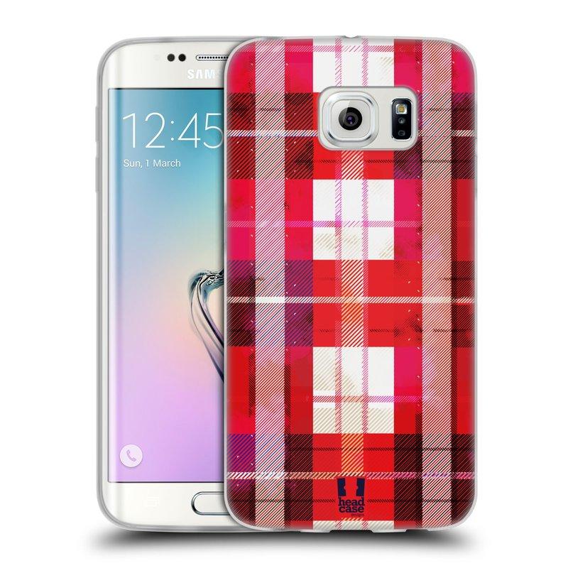 Silikonové pouzdro na mobil Samsung Galaxy S6 Edge HEAD CASE FLANEL RED (Silikonový kryt či obal na mobilní telefon Samsung Galaxy S6 Edge SM-G925F)