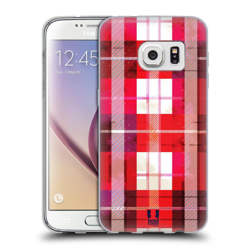 Silikonové pouzdro na mobil Samsung Galaxy S7 HEAD CASE FLANEL RED (Silikonový kryt či obal na mobilní telefon Samsung Galaxy S7 SM-G930F)