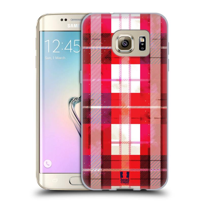 Silikonové pouzdro na mobil Samsung Galaxy S7 Edge HEAD CASE FLANEL RED (Silikonový kryt či obal na mobilní telefon Samsung Galaxy S7 Edge SM-G935F)
