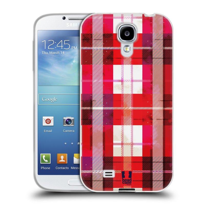 Silikonové pouzdro na mobil Samsung Galaxy S4 HEAD CASE FLANEL RED (Silikonový kryt či obal na mobilní telefon Samsung Galaxy S4 GT-i9505 / i9500)