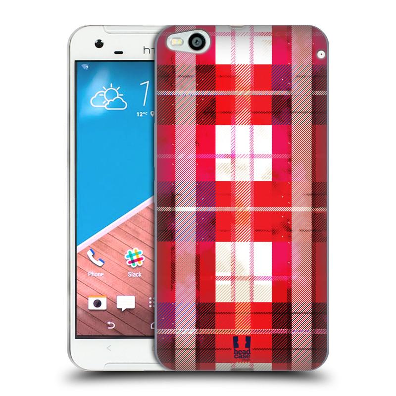Silikonové pouzdro na mobil HTC One X9 HEAD CASE FLANEL RED (Silikonový kryt či obal na mobilní telefon HTC One X9)