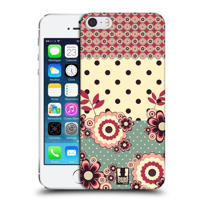 Plastové pouzdro na mobil Apple iPhone SE, 5 a 5S HEAD CASE KVÍTKA PINK CREAM (Kryt či obal na mobilní telefon Apple iPhone SE, 5 a 5S)