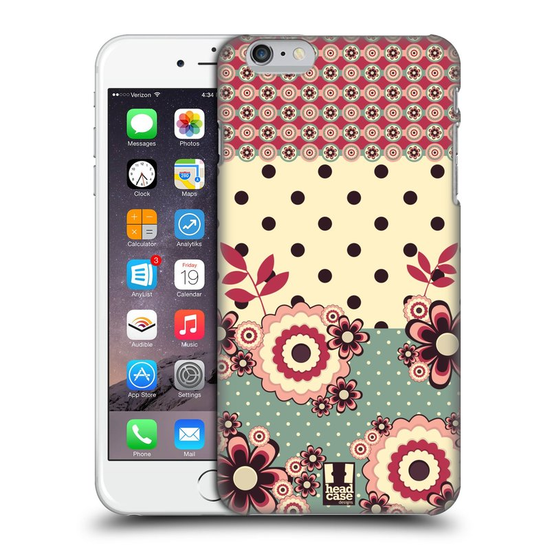 Plastové pouzdro na mobil Apple iPhone 6 Plus a 6S Plus HEAD CASE KVÍTKA PINK CREAM (Kryt či obal na mobilní telefon Apple iPhone 6 Plus a 6S Plus)