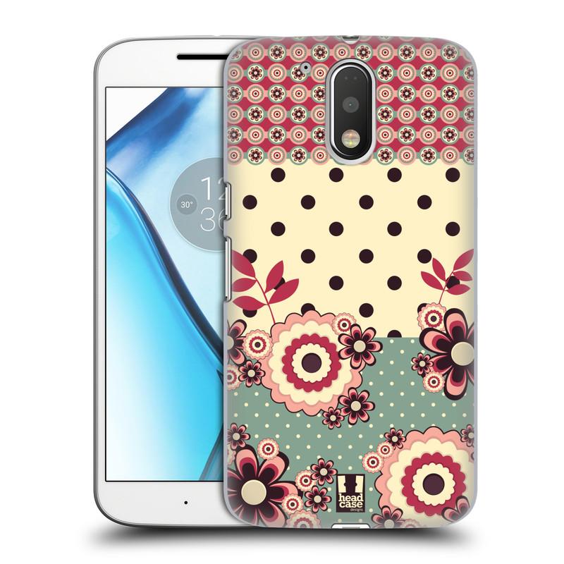 Plastové pouzdro na mobil Lenovo Moto G4 HEAD CASE KVÍTKA PINK CREAM (Plastový kryt či obal na mobilní telefon Lenovo Moto G4 (Single a Dual SIM))