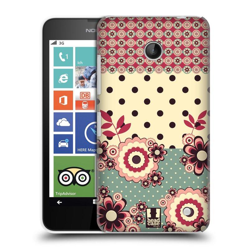 Plastové pouzdro na mobil Nokia Lumia 630 HEAD CASE KVÍTKA PINK CREAM (Kryt či obal na mobilní telefon Nokia Lumia 630 a Nokia Lumia 630 Dual SIM)