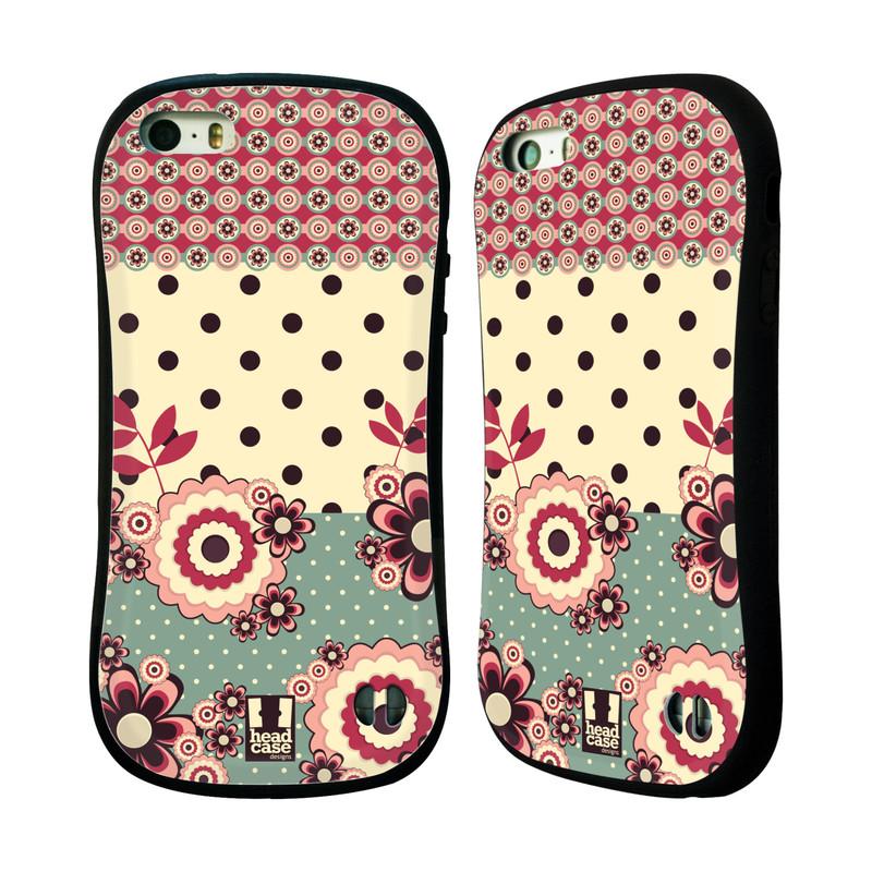 Nárazuvzdorné pouzdro na mobil Apple iPhone SE, 5 a 5S HEAD CASE KVÍTKA PINK CREAM (Odolný nárazuvzdorný silikonový kryt či obal na mobilní telefon Apple iPhone SE, 5 a 5S)