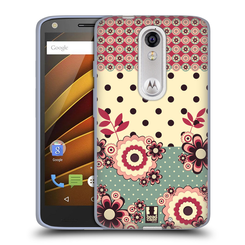 Silikonové pouzdro na mobil Lenovo Moto X Force HEAD CASE KVÍTKA PINK CREAM (Silikonový kryt či obal na mobilní telefon Lenovo Moto X Force (Motorola))