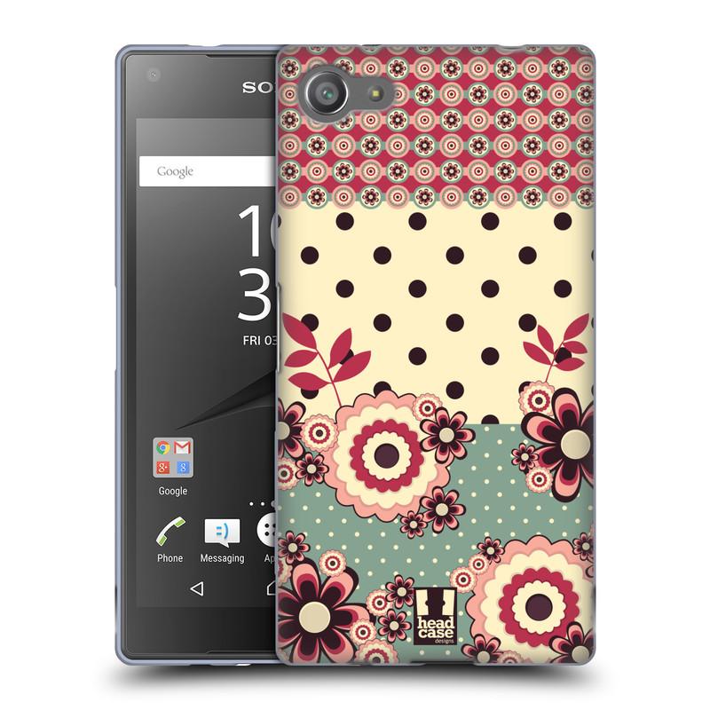 Silikonové pouzdro na mobil Sony Xperia Z5 Compact HEAD CASE KVÍTKA PINK CREAM (Silikonový kryt či obal na mobilní telefon Sony Xperia Z5 Compact E5823)