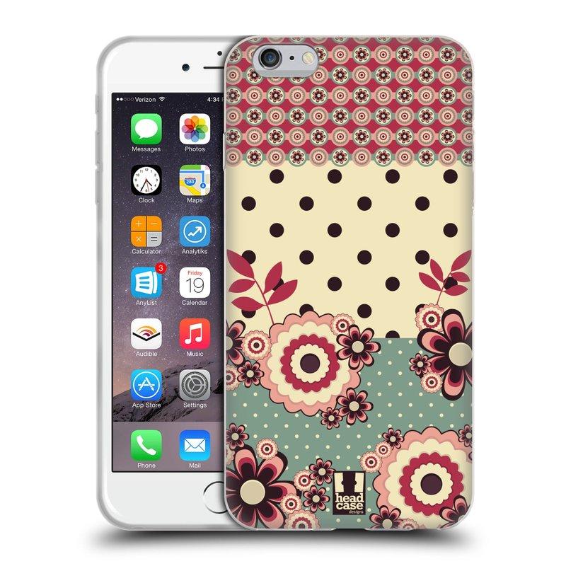 Silikonové pouzdro na mobil Apple iPhone 6 Plus a 6S Plus HEAD CASE KVÍTKA PINK CREAM (Silikonový kryt či obal na mobilní telefon Apple iPhone 6 Plus a 6S Plus)