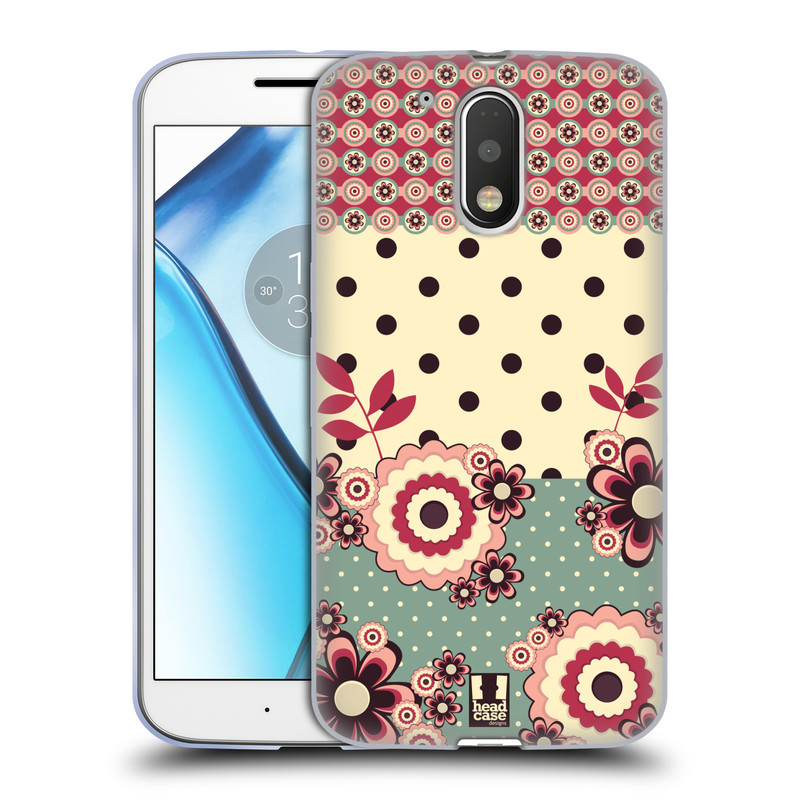 Silikonové pouzdro na mobil Lenovo Moto G4 HEAD CASE KVÍTKA PINK CREAM (Silikonový kryt či obal na mobilní telefon Lenovo Moto G4 (Single a Dual SIM))