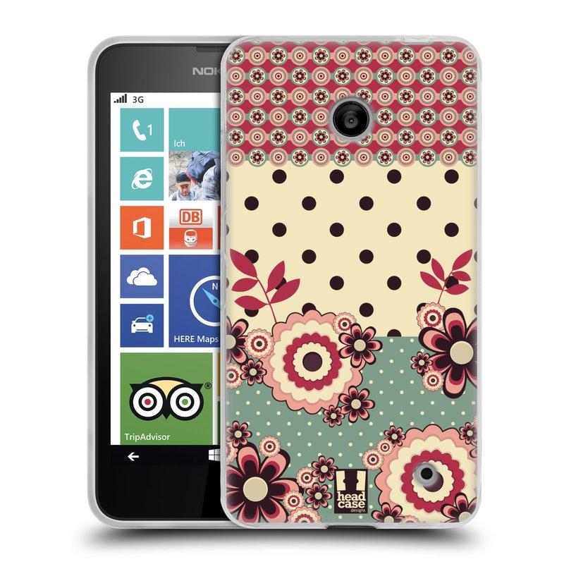 Silikonové pouzdro na mobil Nokia Lumia 630 HEAD CASE KVÍTKA PINK CREAM (Silikonový kryt či obal na mobilní telefon Nokia Lumia 630 a Nokia Lumia 630 Dual SIM)