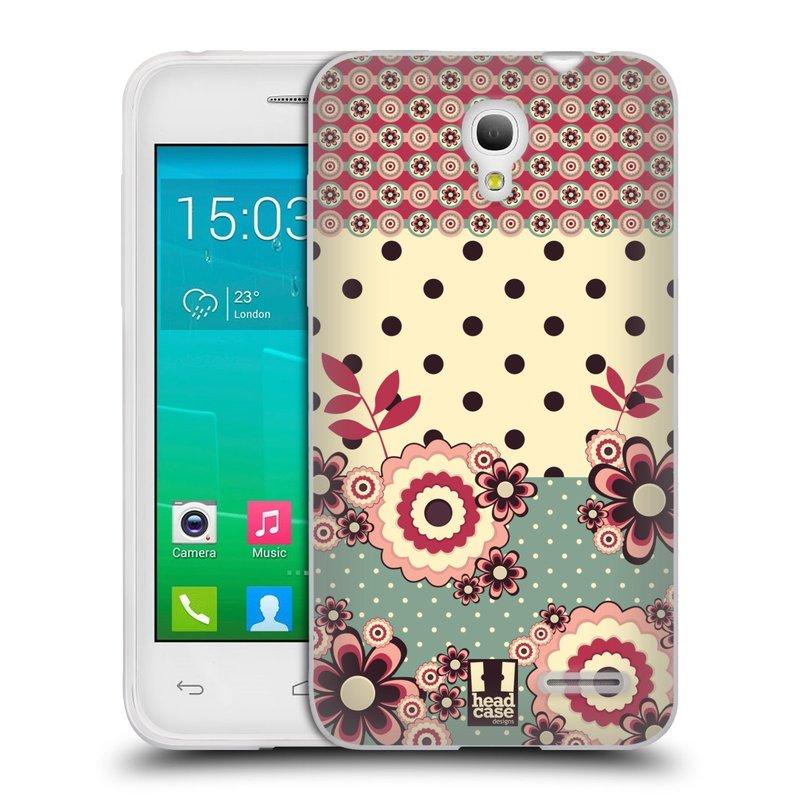 Silikonové pouzdro na mobil Alcatel One Touch Pop S3 HEAD CASE KVÍTKA PINK CREAM (Silikonový kryt či obal na mobilní telefon Alcatel OT- 5050Y POP S3)