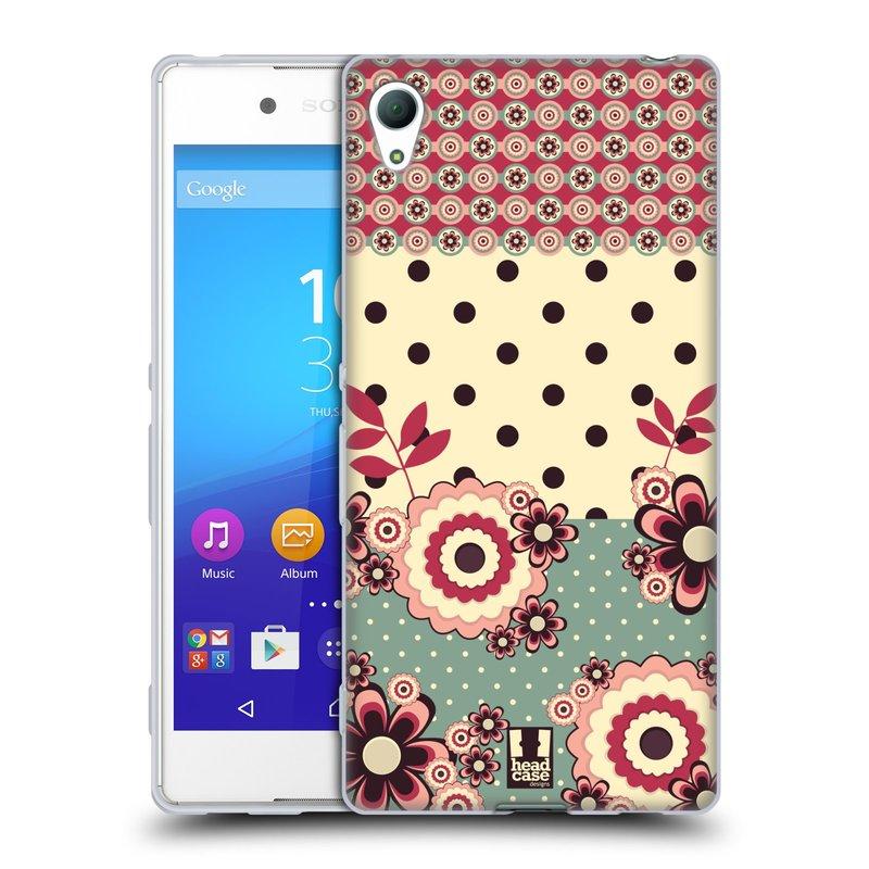Silikonové pouzdro na mobil Sony Xperia Z3+ (Plus) HEAD CASE KVÍTKA PINK CREAM (Silikonový kryt či obal na mobilní telefon Sony Xperia Z3+ / Z4 E6553)