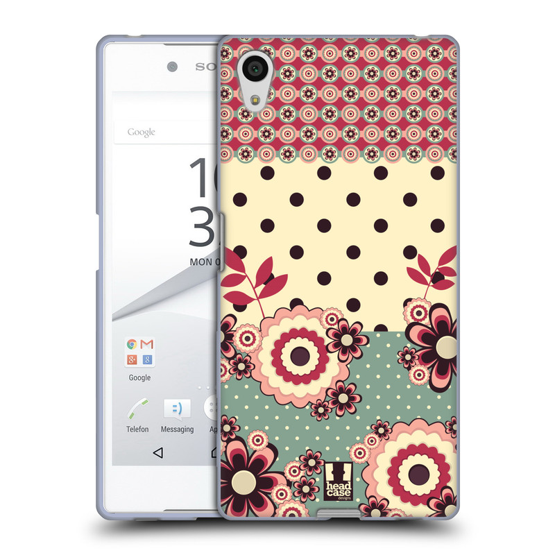 Silikonové pouzdro na mobil Sony Xperia Z5 HEAD CASE KVÍTKA PINK CREAM (Silikonový kryt či obal na mobilní telefon Sony Xperia Z5 E6653)