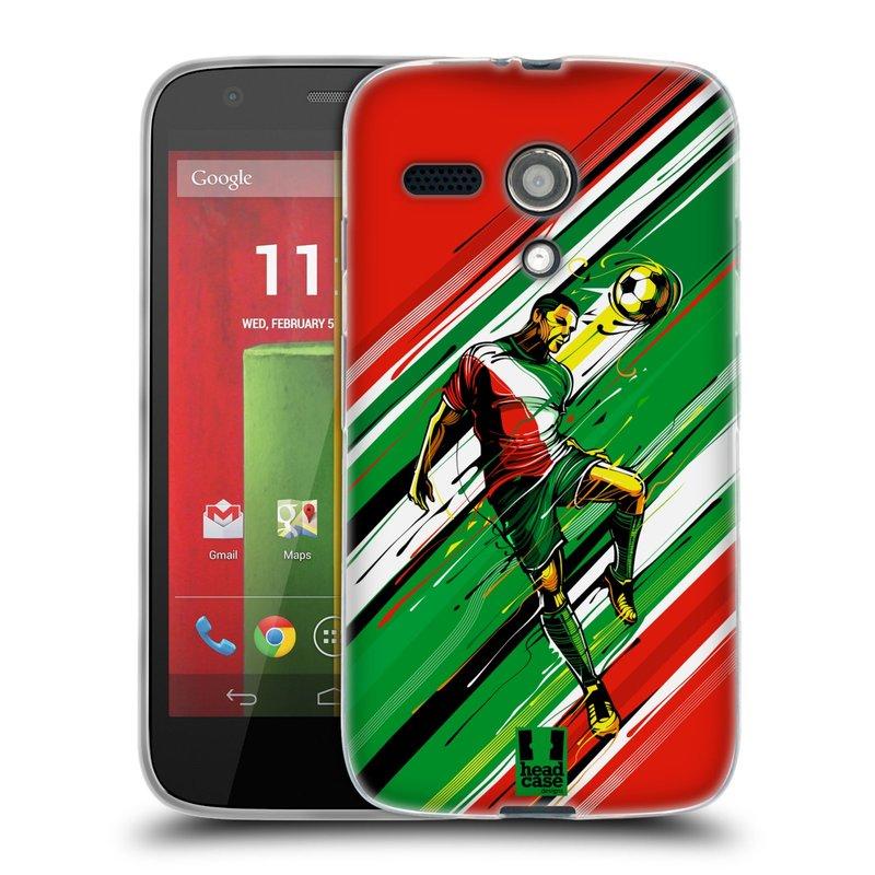 Silikonové pouzdro na mobil Motorola Moto G HEAD CASE HLAVIČKA (Silikonový kryt či obal na mobilní telefon Motorola Moto G)