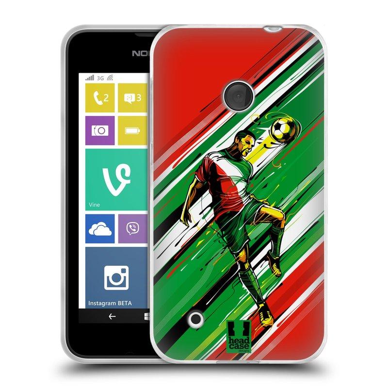 Silikonové pouzdro na mobil Nokia Lumia 530 HEAD CASE HLAVIČKA (Silikonový kryt či obal na mobilní telefon Nokia Lumia 530)