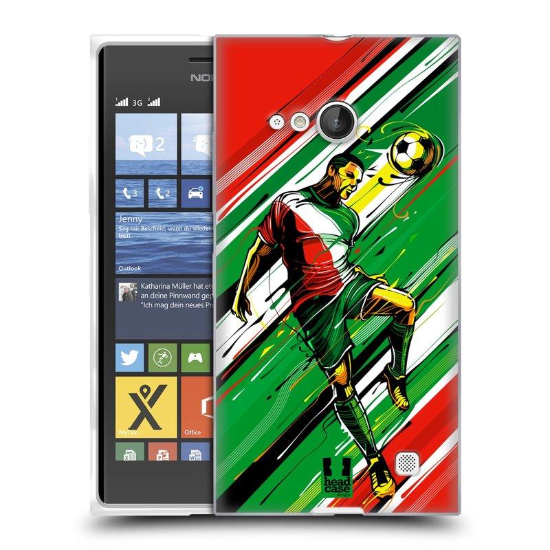 Silikonové pouzdro na mobil Nokia Lumia 735 HEAD CASE HLAVIČKA (Silikonový kryt či obal na mobilní telefon Nokia Lumia 735)