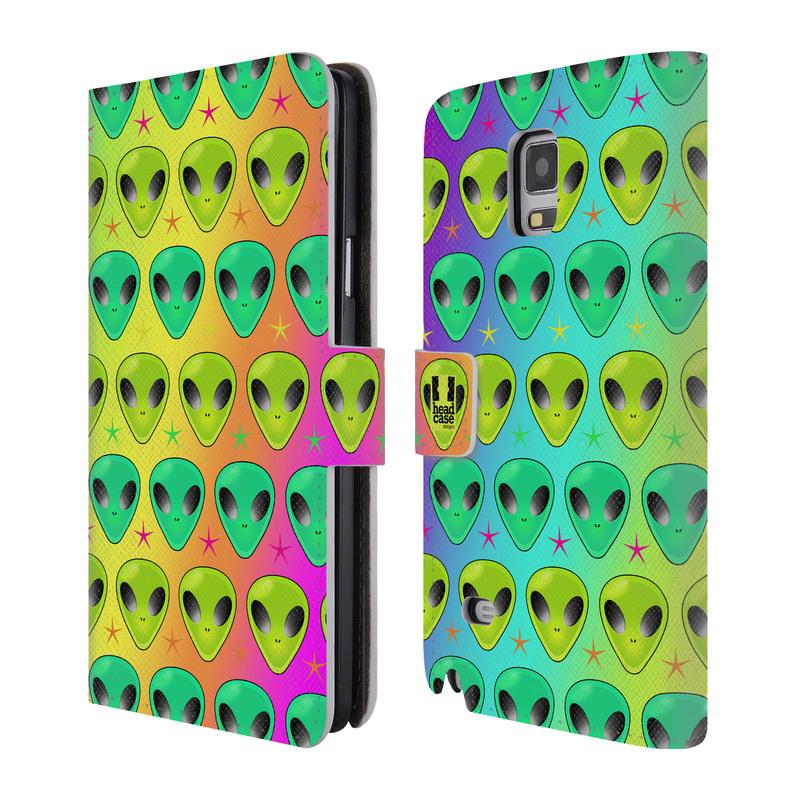 Flipové pouzdro na mobil Samsung Galaxy Note 4 HEAD CASE Ufounci (Flipový vyklápěcí kryt či obal z umělé kůže na mobilní telefon Samsung Galaxy Note 4 SM-N910)