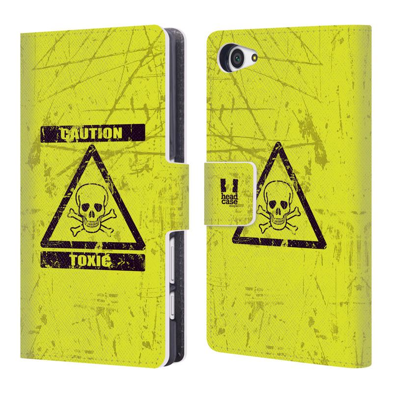 Flipové pouzdro na mobil Sony Xperia Z5 Compact HEAD CASE Toxic (Flipový vyklápěcí kryt či obal z umělé kůže na mobilní telefon Sony Xperia Z5 Compact E5823)